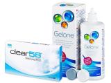 Clear 58 (6lenses) +GeloneSolution 360ml