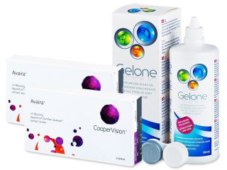Avaira (2x3 lenses) + Gelone Solution 360 ml