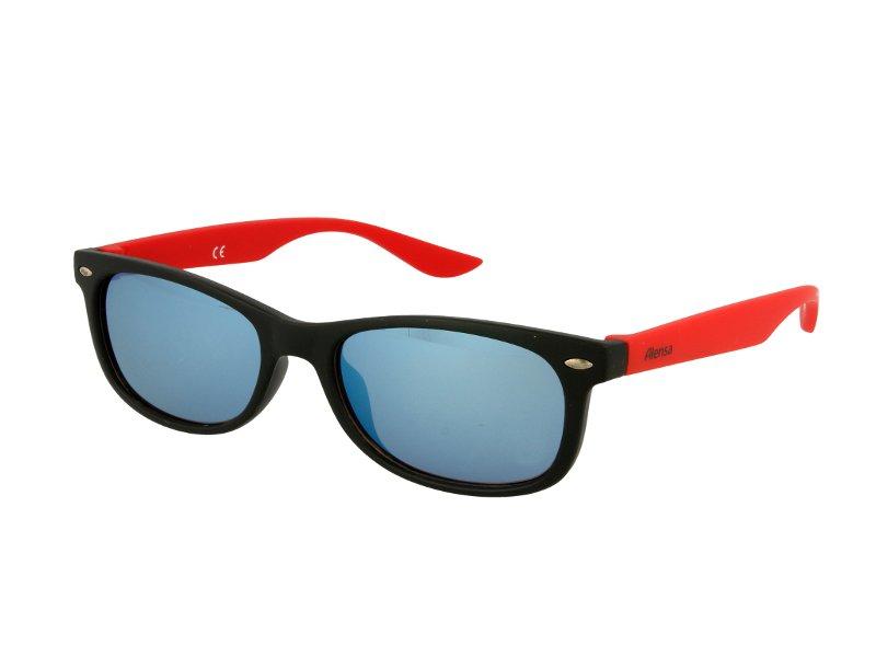 Kids sunglasses Alensa Sport Black Red Mirror