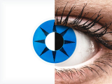 ColourVUE Crazy Lens - Blue Star - plano (2 lenses)