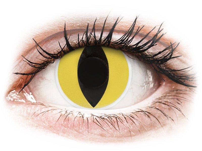 ColourVUE Crazy Lens - Cat Eye - plano (2 lenses)