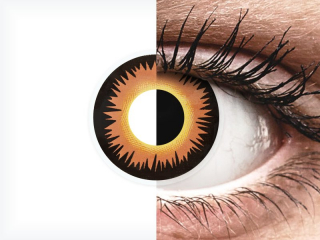 ColourVUE Crazy Lens - Orange Werewolf - plano (2 lenses)