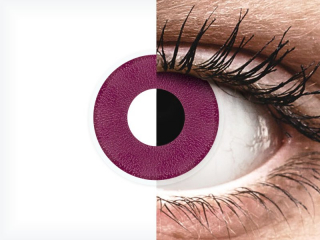 ColourVUE Crazy Lens - Purple - plano (2 lenses)