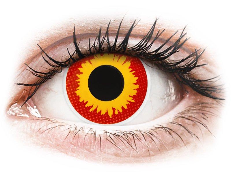 ColourVUE Crazy Lens - Wildfire - plano (2 lenses)