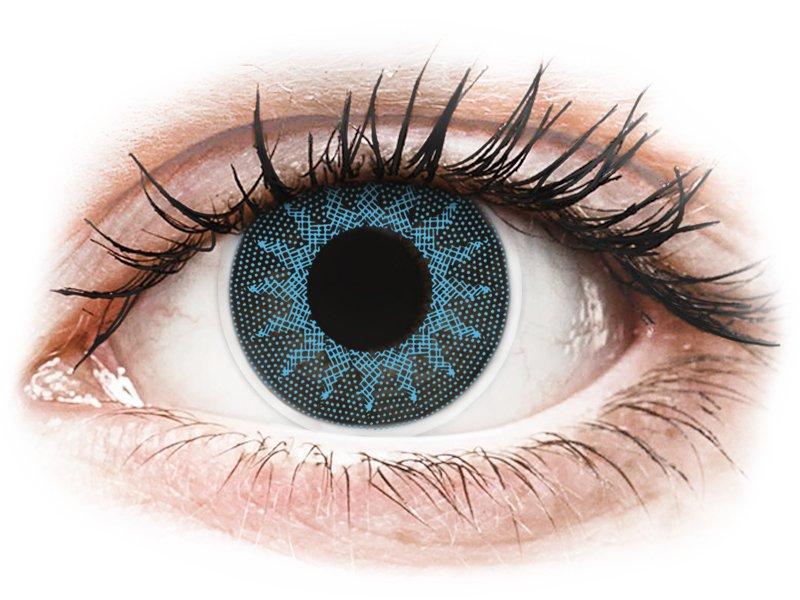 ColourVUE Crazy Lens - Solar Blue - power (2 lenses)