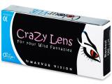 ColourVUE Crazy Lens - White Zombie - power (2 lenses)