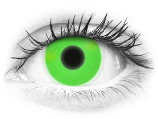 ColourVUE Crazy Glow Green - plano (2lenses)