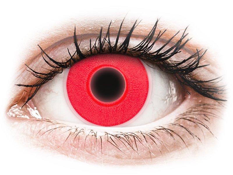 ColourVUE Crazy Glow Red - plano (2lenses)