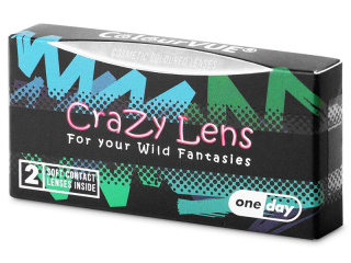 ColourVUE Crazy Lens - White Zombie - daily plano (2 lenses)