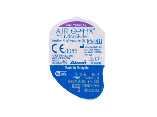 Air Optix plus HydraGlyde Multifocal (6 lenses)