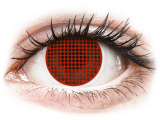 ColourVUE Crazy Lens - Red Screen - plano (2 lenses)