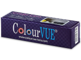 ColourVUE Crazy Lens - Black Screen - plano (2 lenses)