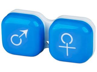Lens Case man & woman - blue