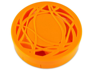 Lens Case with mirror- orange ornament