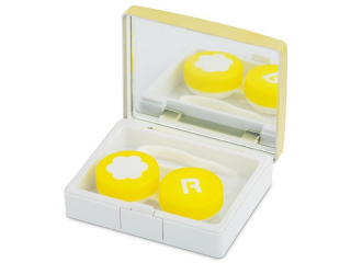 Lens Case with mirror Elegant  - gold
