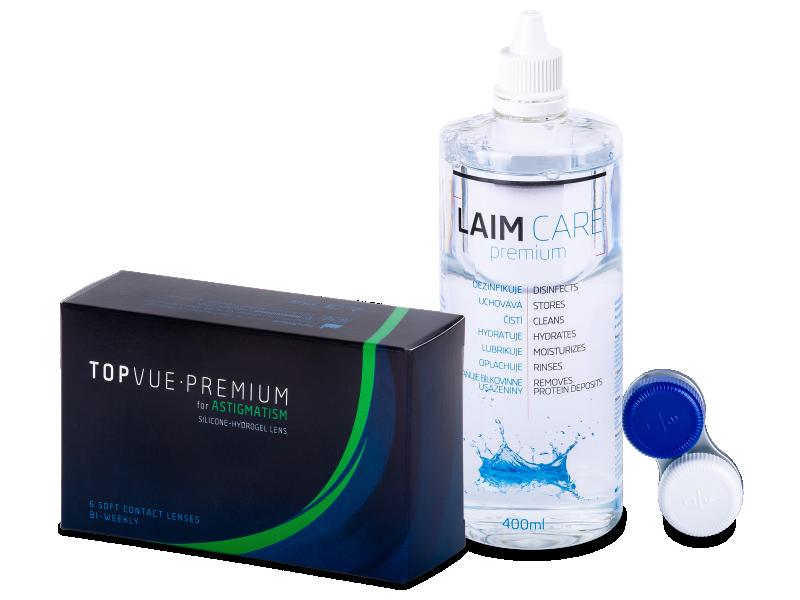 TopVue Premium for Astigmatism (6lenses) +Laim-Care Solution400ml