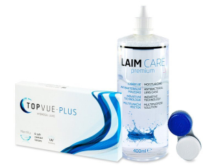 TopVue Monthly Plus (6 lenses) + LAIM-CARESolution400ml