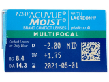 1 Day Acuvue Moist Multifocal (30 lenses)