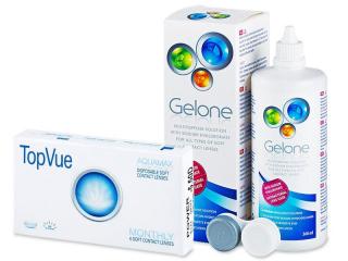 TopVue Monthly (6lenses) +GeloneSolution 360ml